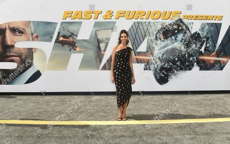 "Terri Seymour arrives at the Los Angeles premiere of ""Fast & Furious Presents: Hobbs & Shaw"", at the Dolby Theatre"