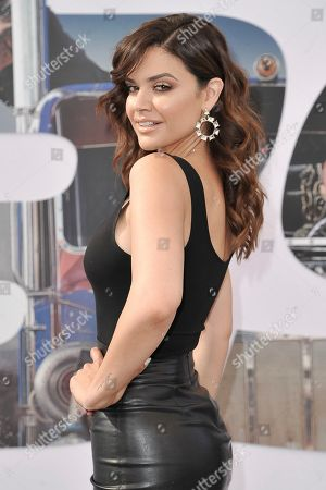 "Angelica Celaya attends the LA premiere of ""Fast & Furious Presents: Hobbs & Shaw"" at the Dolby Theatre, in Los Angeles"