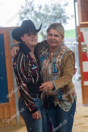Corinna Schumacher and Gina Maria Schumacher