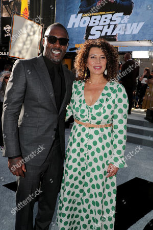 Idris Elba and Donna Langley, Chairman, Universal Filmed Entertainment Group, seen at Universal Pictures World Premiere of FAST & FURIOUS PRESENTS: HOBBS & SHAW at the Dolby Theater in Hollywood, CA on Saturday, July 13th, 2019.