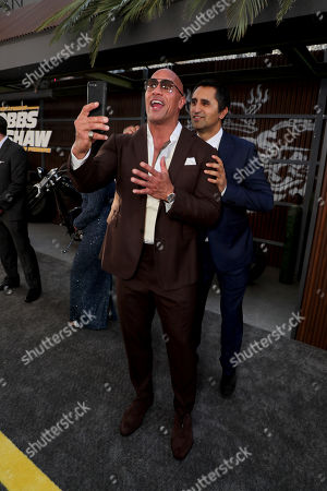 Dwayne Johnson and Cliff Curtis seen at Universal Pictures World Premiere of FAST & FURIOUS PRESENTS: HOBBS & SHAW at the Dolby Theater in Hollywood, CA on Saturday, July 13th, 2019.