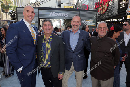 Hiram Garcia, Producer, Jeff Shell, Chairman, NBCUniversal Film and Entertainment, Jimmy Horowitz, President of Universal Pictures, and Ron Meyer, Vice Chairman, NBCUniversal, seen at Universal Pictures World Premiere of FAST & FURIOUS PRESENTS: HOBBS & SHAW at the Dolby Theater in Hollywood, CA on Saturday, July 13th, 2019.