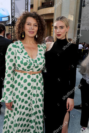 Donna Langley, Chairman, Universal Filmed Entertainment Group, and Vanessa Kirby seen at Universal Pictures World Premiere of FAST & FURIOUS PRESENTS: HOBBS & SHAW at the Dolby Theater in Hollywood, CA on Saturday, July 13th, 2019.