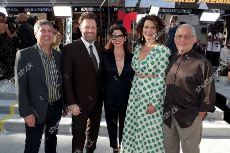 Jeff Shell, Chairman, NBCUniversal Film and Entertainment, David Leitch, Director, Kelly McCormick, Executive Producer, Donna Langley, Chairman, Universal Filmed Entertainment Group, and Ron Meyer, Vice Chairman, NBCUniversal, seen at Universal Pictures World Premiere of FAST & FURIOUS PRESENTS: HOBBS & SHAW at the Dolby Theater in Hollywood, CA on Saturday, July 13th, 2019.