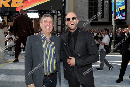 Jeff Shell, Chairman, NBCUniversal Film and Entertainment, and Jason Statham seen at Universal Pictures World Premiere of FAST & FURIOUS PRESENTS: HOBBS & SHAW at the Dolby Theater in Hollywood, CA on Saturday, July 13th, 2019.