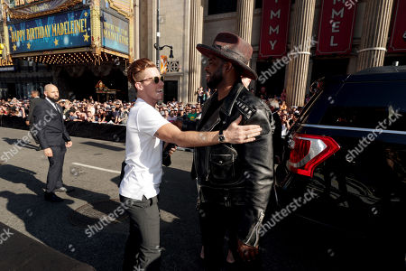 Shaun White and PK Subban seen at Universal Pictures World Premiere of FAST & FURIOUS PRESENTS: HOBBS & SHAW at the Dolby Theater in Hollywood, CA on Saturday, July 13th, 2019.