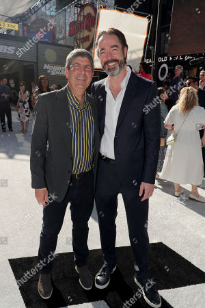 Jeff Shell, Chairman, NBCUniversal Film and Entertainment, and Chris Morgan, Writer/Producer, seen at Universal Pictures World Premiere of FAST & FURIOUS PRESENTS: HOBBS & SHAW at the Dolby Theater in Hollywood, CA on Saturday, July 13th, 2019.