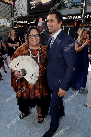 Lori Pelenise Tuisano and Cliff Curtis seen at Universal Pictures World Premiere of FAST & FURIOUS PRESENTS: HOBBS & SHAW at the Dolby Theater in Hollywood, CA on Saturday, July 13th, 2019.