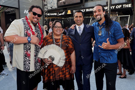 Kelemete Kelemete, Lori Pelenise Tuisano, Cliff Curtis and West LeClay seen at Universal Pictures World Premiere of FAST & FURIOUS PRESENTS: HOBBS & SHAW at the Dolby Theater in Hollywood, CA on Saturday, July 13th, 2019.