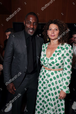 Idris Elba and Donna Langley, Chairman, Universal Filmed Entertainment Group, seen at Universal Pictures World Premiere of FAST & FURIOUS PRESENTS: HOBBS & SHAW in Hollywood, CA on Saturday, July 13th, 2019.