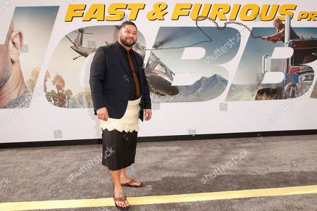 Stock Image of John Tui arrives for the world premiere of 'Fast and Furious presents Hobbs and Shaw' at the Dolby Theatre in Hollywood, Los Angeles, California, USA, 13 July 2019. The movie will be released in the US on 02 August 2019.
