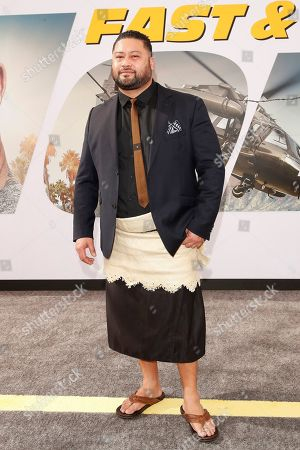 John Tui arrives for the world premiere of 'Fast and Furious presents Hobbs and Shaw' at the Dolby Theatre in Hollywood, Los Angeles, California, USA, 13 July 2019. The movie will be released in the US on 02 August 2019.
