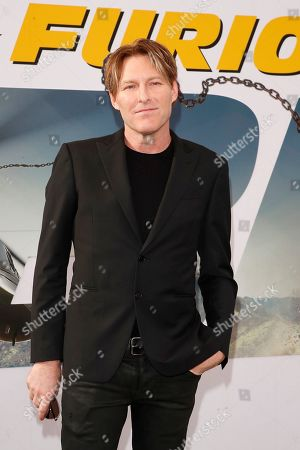 Stock Picture of Tyler Bates arrives for the world premiere of Fast and Furious presents Hobbs and Shaw at the Dolby Theatre in Hollywood, Los Angeles, California, USA 13 July 2019. The movie will be released in the US on 02 August 2019.