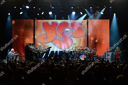 Editorial image of Yes in concert at the Hard Rock Events Center, Seminole Hard Rock Hotel and Casino, Florida, USA - 13 Jul 2019