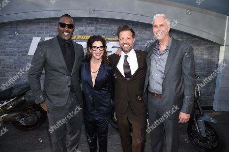 Idris Elba, Kelly McCormick, Executive Producer, David Leitch, Director, and Christopher Rouse