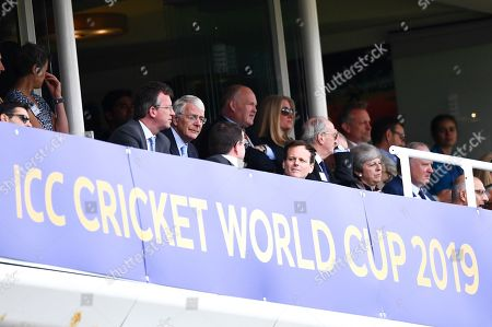 Theresa May and former Prime Minister Sir John Major in attendance