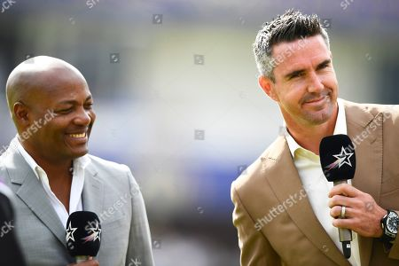 Kevin Pietersen and Brian Lara working for television