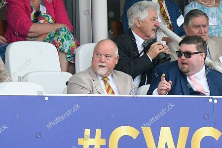 Former England captain Mike Gatting during the ICC Cricket World Cup 2019 Final match between New Zealand and England at Lord's Cricket Ground, St John's Wood
