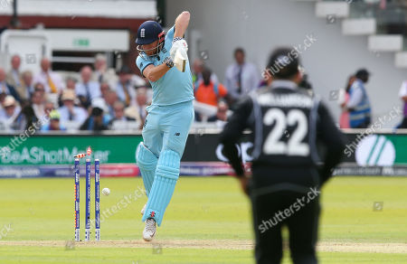 Jonny Bairstow of England is bowled by Lockie Ferguson of New Zealand out for 36 runs