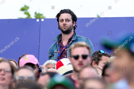 Former Maccabees guitarist Felix White watches on during the Cricket World Cup Final between England and New Zealand
