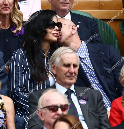 Stock Picture of Jeff Bezos and Lauren Sanchez in the Royal Box on Centre Court
