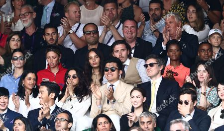 Kendall Jenner, Brooklyn Beckham, Hana Cross and Claire Foy on Centre Court