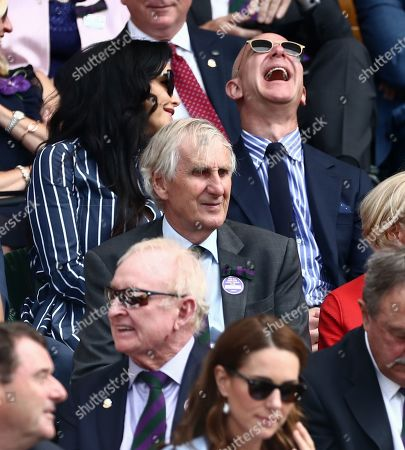 Stock Photo of Jeff Bezos and Lauren Sanchez in the Royal Box on Centre Court