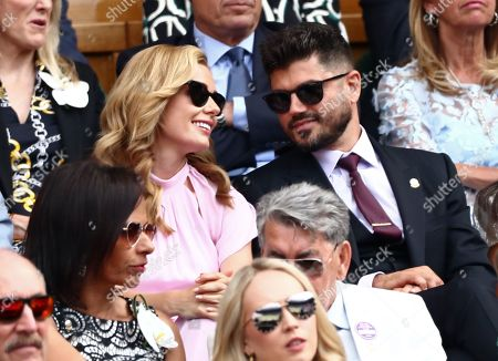 Stock Image of Katherine Jenkins and Andrew Levitas in the Royal Box on Centre Court