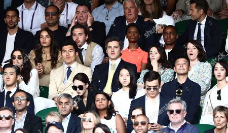 Brooklyn Beckham, Hana Cross and Claire Foy on Centre Court