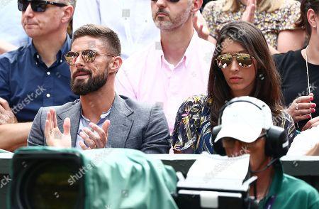 Olivier Giroud and wife Jennifer Giroud on Centre Court