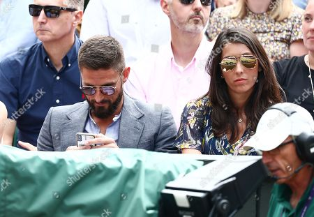 Stock Photo of Olivier Giroud and wife Jennifer Giroud on Centre Court