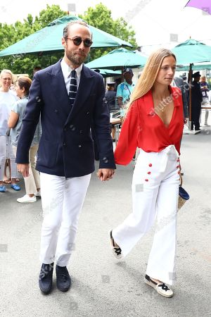 James Middleton and Alizee Thevenet arriving
