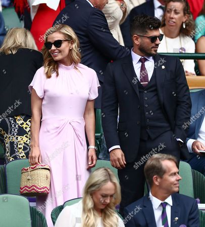 Katherine Jenkins and Andrew Levitas in the Royal Box on Centre Court