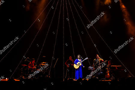 Katie Melua (C) performs during the VeszpremFest festival, in Veszprem, Hungary, late 13 July 2019 (issued 14 July 2019)