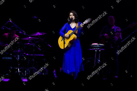 Katie Melua performs during the VeszpremFest festival, in Veszprem, Hungary, late 13 July 2019 (issued 14 July 2019)