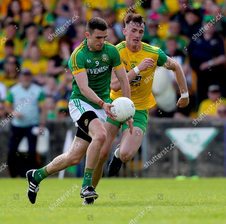 Donegal vs Meath. Donegal's Jason McGee with Shane McEntee of Meath