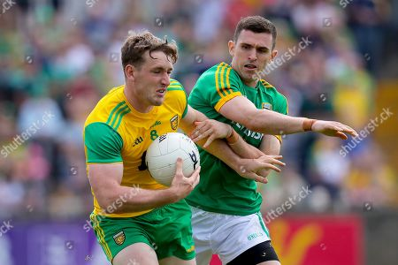 Stock Image of Donegal vs Meath. Donegal's Hugh McFadden with Shane McEntee of Meath