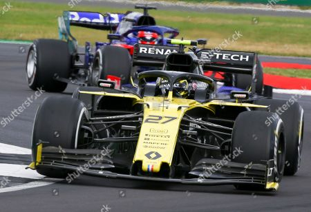 German Formula One driver Nico Huelkenberg of Renault in action during the Formula One Grand Prix of Great Britain at the Silverstone circuit, in Northamptonshire, Britain, 14 July 2019.
