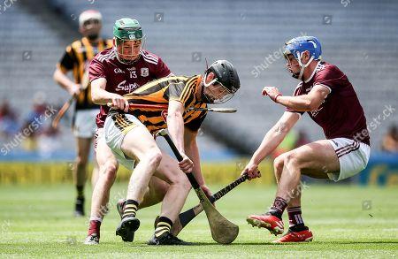 Kilkenny vs Galway. Galway's Gavin Lee and Shane Morgan with Padraic Moylan of Kilkenny