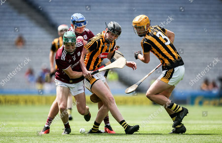 Kilkenny vs Galway. Galway's Gavin Lee and Shane Morgan with Padraic Moylan and William Halpin of Kilkenny