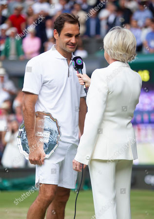 Editorial picture of Wimbledon Championships 2019, Day Thirteen, Gentlemens Final, All England Lawn Tennis & Croquet Club, Church Rd, London, United Kingdom - 14th July 2019