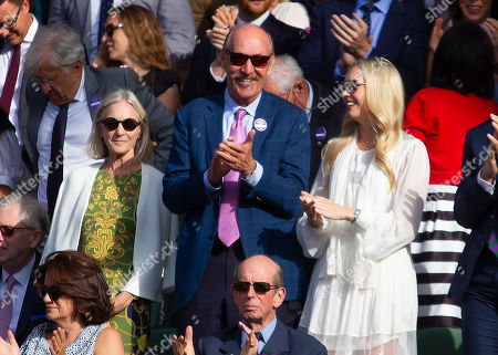Tennis Legend Stan Smith in the Royal Box at wimbledon during the Gentlemen's Singles Final