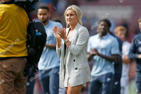 Steph Houghton Captian of the England Womens football team, and wife of Stephen Darby, during the Pre-Season Friendly match between Bradford City and Liverpool at the Northern Commercials Stadium, Bradford