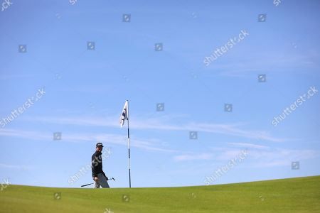 Jimmy Walker of the U.S lines up his putt on the 15th green at Royal Portrush Golf Club during a practice round ahead of the 148th Open Golf Championship, in Portrush, Northern Ireland,. The Open Golf Championships takes place between 18-21st July