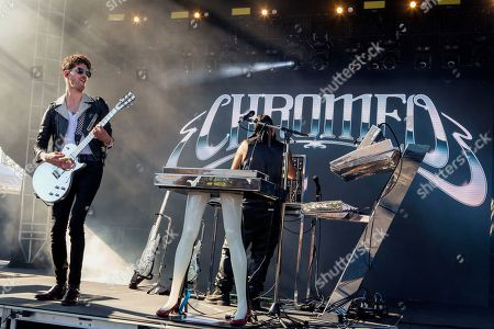 Chromeo - David Macklovitch (Dave 1) and Patrick Gemaye (P-Thugg)
