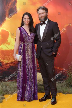 Stock Photo of Seth Rogen and wife Lauren Miller
