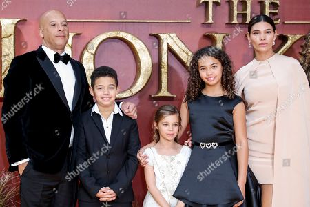 Vin Diesel and Paloma Jimenez with family