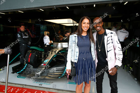 """Motorsports: FIA Formula One World Championship 2019, Grand Prix of Great Britain,  Tania Nell and Sir Mohamed """"Mo"""" Farah"""
