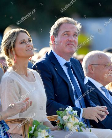 Princess Madeleine and Chris O'Neill attend Crown Princess Victoria's 42nd birthday celebration.
