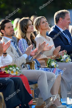 Prince Carl Philip, Princess Sofia of Sweden, Princess Madeleine and Chris O'Neill attend Crown Princess Victoria's 42nd birthday celebration.